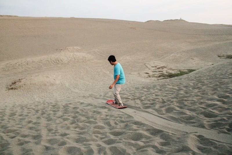 Sandboarding, baby!
