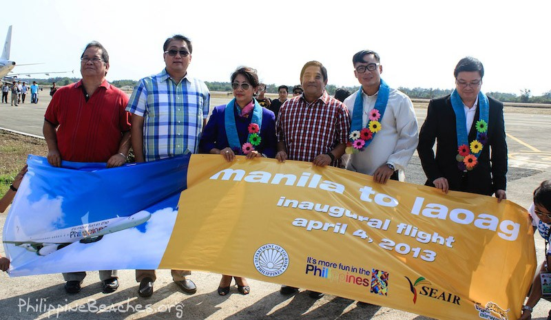 seair inaugural flight laoag