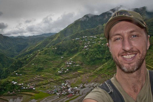 Matt and the rice terraces