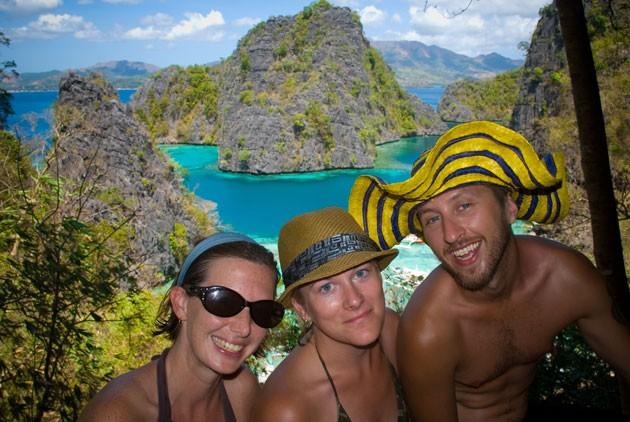 Matt and friends at a viewpoint near Kayangan Lake, Coron