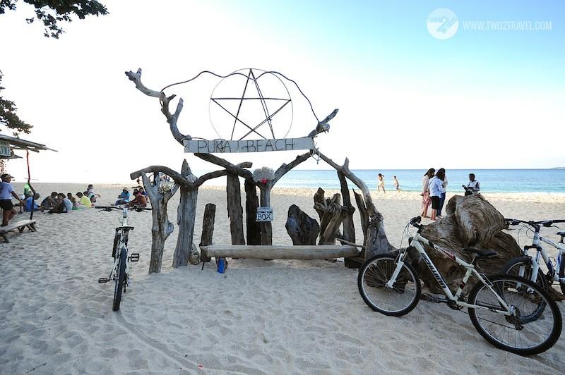 Biking to Puka Beach