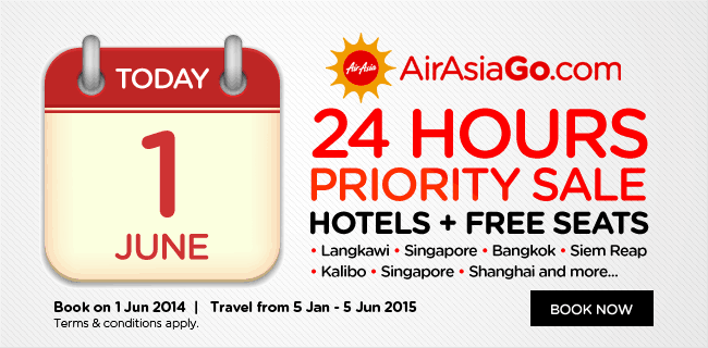 The sale also applies to flights from Malaysia!