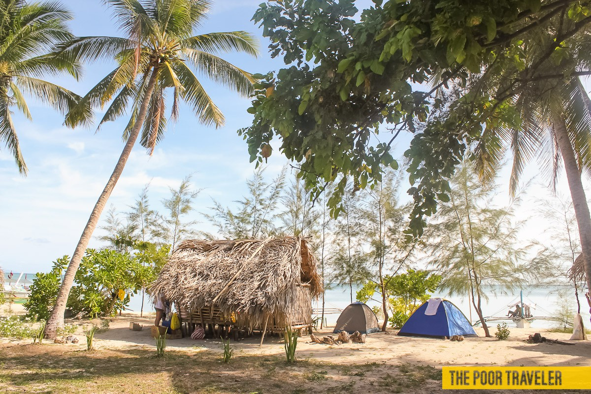 Most tourists choose to camp here because of its wide beachfront.