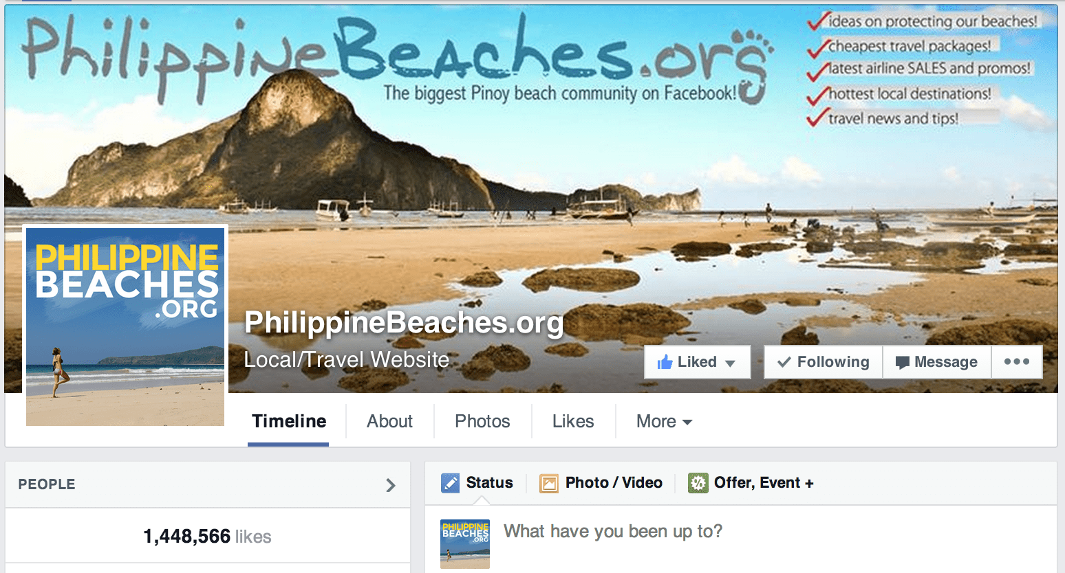 PhilippineBeaches Facebook Page