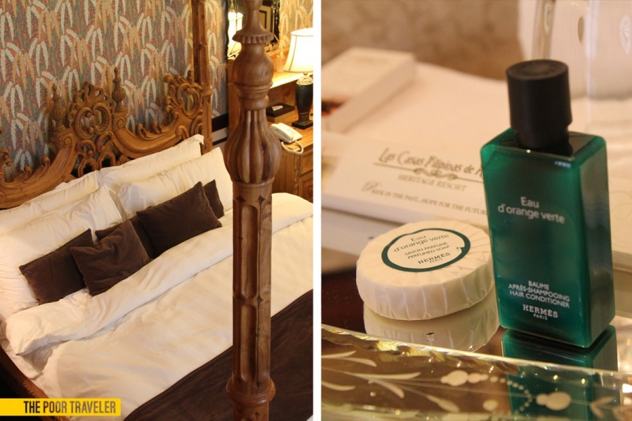 A luxe suite in Casa Bizantina comes with Hermes bath essentials.