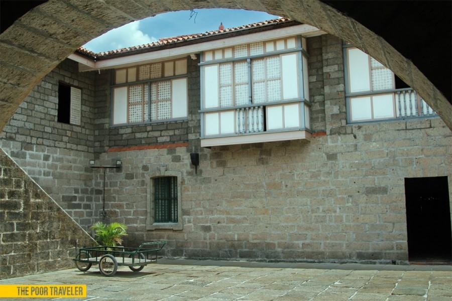 The inner courtyard of Casa Biñan, also known as the Alberto House.
