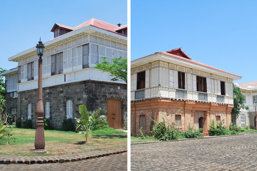 Left: Casa Candaba, originally owned by the Reyes family, one of the most prominent families in Pampanga during the 1780s. Right: Casa Luna built in 1850, originally owned by the Novicio family of Namacpacan, La Union. (Photos courtesy of Las Casas Filipinas De Acuzar)