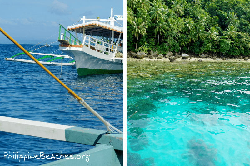 Dive/Snorkel stops: Coral Garden and Angel's Cove.