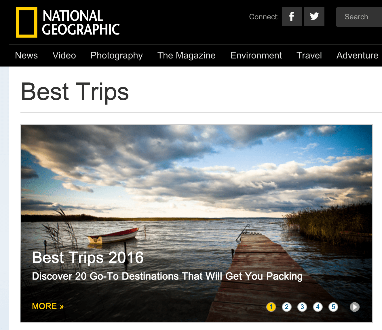 National Geographic Best Trips 2016