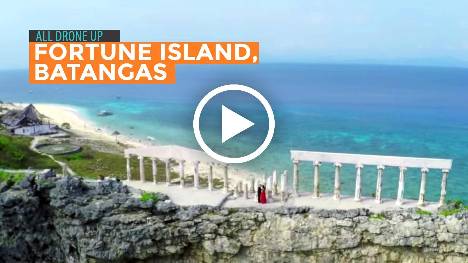 All Drone Up Fortune Island In Nasugbu Batangas Philippine Beach