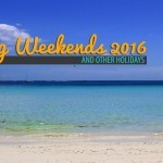2016 Philippine Holidays and Long Weekends