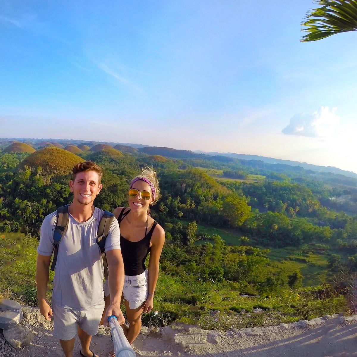 At the Chocolate Hills, Bohol