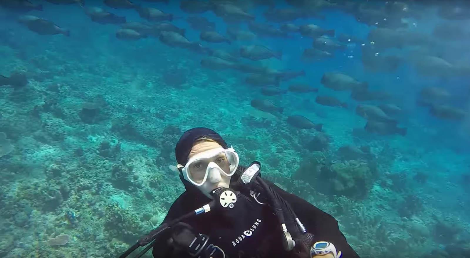 Scuba Diver Tubbataha Reef