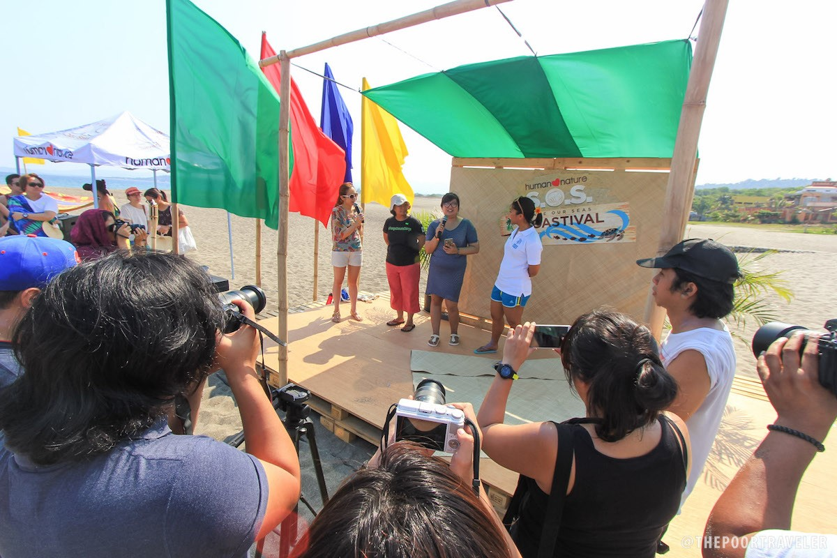 Event host Ingrid Nieto of Mellow 94.7 FM interviewing Maye Padilla of World Wide Fund for Nature, Tina Antonio of La Union Soul, and Anna Oposa of Save Philippine Seas.